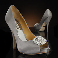 BADGLEY MISCHKA LISSA-SILVER Wedding Shoes and LISSA-SILVER Dyeable Bridal Shoes SILVER