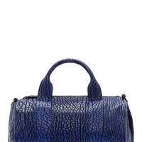 Alexander Wang Blue Grained Dumbo Rocco Duffle Bag