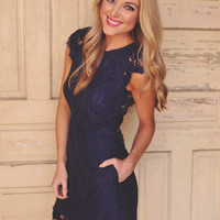 Lace Dress- Navy