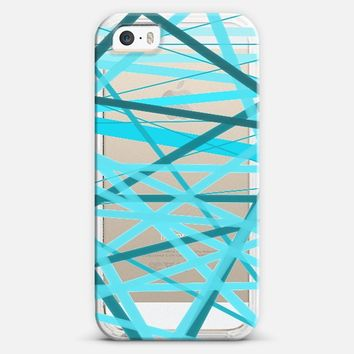 Ocean Jumble Lines - Transparent/Clear Background iPhone 5s case by Lisa Argyropoulos | Casetify