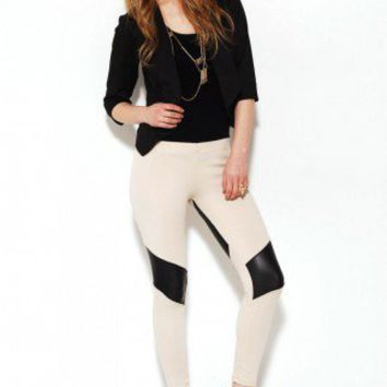Pleather Stripe Bike Legging
