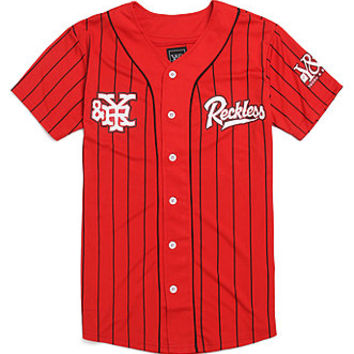 Young & Reckless Reckless Grand Slam Jersey - Mens Tee - Red -