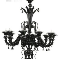 Cyan Design 65111015 - Venetian Noir Murano Glass Chandelier CN-6511-10-15