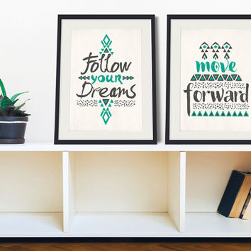 Uplifting Hipster Quotes - Set of 2 Prints – 8 x 10 or 11 x 14