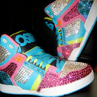 Blinged out Sneakers
