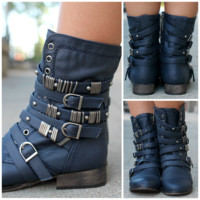 Rebel Spirits Bootie - Navy - NAVY /