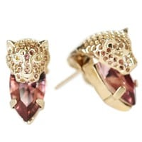 Iosselliani Pink Cheetah Head Stud