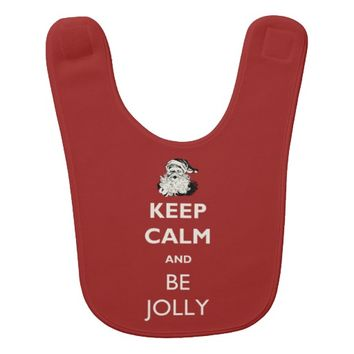 Keep Calm and Be Jolly Christmas Bib