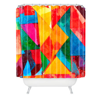 Fresh Artists Brilliant Stained Glass Shower Curtain