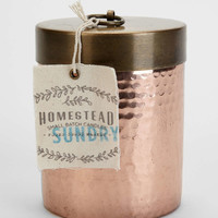 Found Goods Market Homestead Hammered Copper Candle-