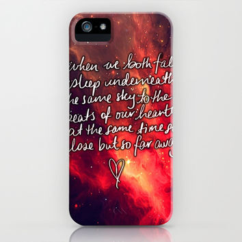 5sos Beside you lyrics music so close but so far away iPhone & iPod Case by tepras