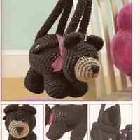 Amigurumi Handmade Crochet Bear Purse