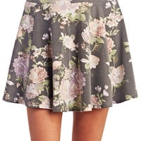 Cool Girl Floral Skater Skirt | Wet Seal