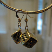 Sterling Silver Vintage Silver Dice Earrings by sodalex on Etsy