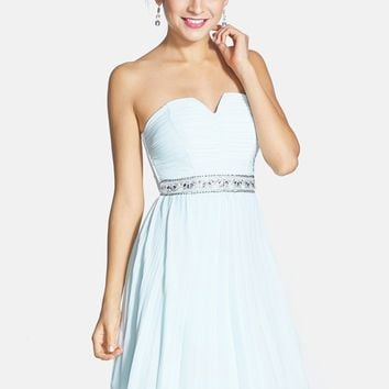 Sequin Hearts Embellished Skater Dress (Juniors)