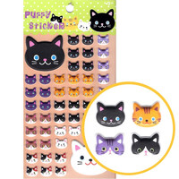 Kitty Cat Animal Themed Puffy Stickers for Scrapbooking and Decorating - Kitty Cat Shaped Puffy Stickers
