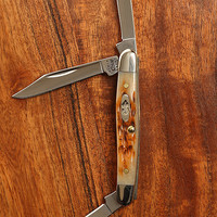 Blackbird - W.R. Case & Sons Cutlery Co. - Amber Bone Small Stockman Knife
