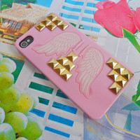 Fashion hard Case cover with golden pyramid for iPhone 4 case,iPhone 4S case ,iPhone 4GS case  SJK-2207