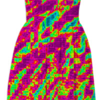 Psychedelic Pixel Dress created by 2sweet4wordsDesigns | Print All Over Me