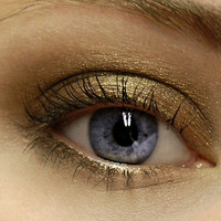 Dark Chocolate & Gold Sparkly Eyeshadow . CACAO DARK Mineral Eye Shadow . Large 10 gram Jar