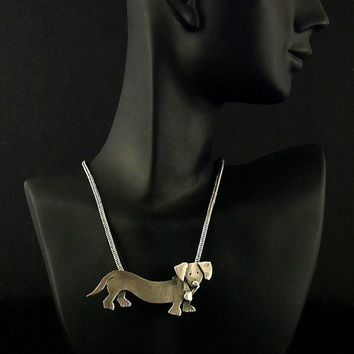 Sterling Silver Dachshund Necklace - DiDi