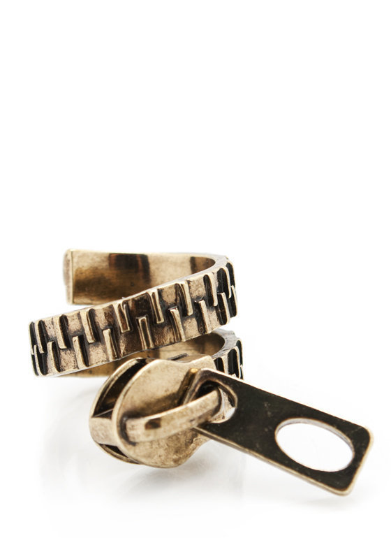 zipper-coil-ring GOLD SILVER - GoJane.com