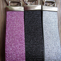 Key Fob- Pink, Black or Silver Sparkle/Shimmer- Ready to ship