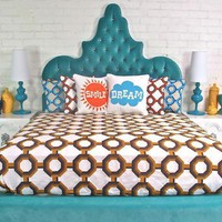 www.roomservicestore.com - Tangier Bed in Aqua Velvet