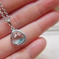 Aquamarine Light Blue Glass Pendant.. on Luulla