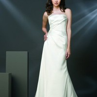 Empire Strapless Taffeta Chapel Train Wedding Dress - Basadress.com