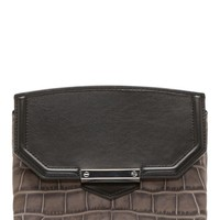 Alexander Wang Grey Croc-embossed Marion Prisma Shoulder Bag