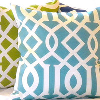 Modern Trellis Indoor/Outdoor  Pillow Set (3) 16 X 16