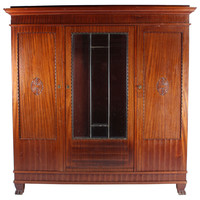 Swedish Mahogany Wardrobe, C. 1920