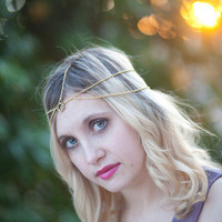Chain Headdress, Headband, Head Chain, Chain Headband