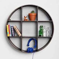 Round Curiosity Shelf- Black One Size- Black One