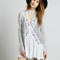 Free People Womens Secret Origins Pieced Lace Tunic