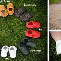 Baby/Toddler 100% Leather Moccasins- 27 Colors!