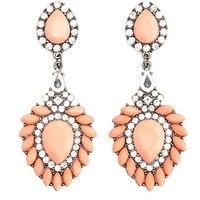 Marquise Cut Faceted Stone Drop Earrings