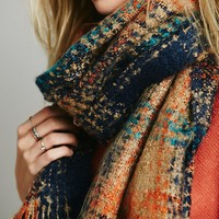 Free People Nova Scotia Plaid Scarf