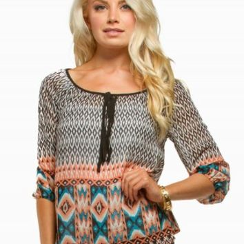 MINE AZTEC PEASANT TOP