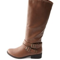 DOUBLE BELTED KNEE-HIGH RIDING BOOTS