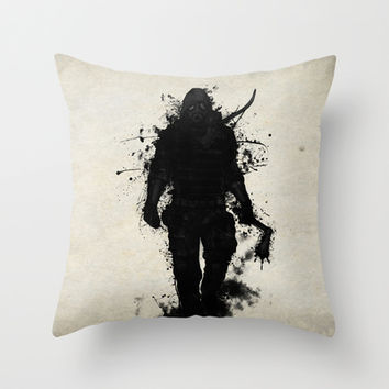 Apocalypse Hunter Throw Pillow by Nicklas Gustafsson
