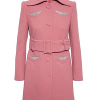 CARVEN | Virgin Wool Coat with Jeweled Pockets | Browns fashion & designer clothes & clothing