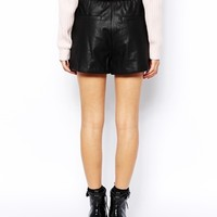 Glamorous PU Shorts with Pockets at asos.com