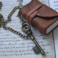 Handmade mini bookjournal or necklace made from by Keepreading