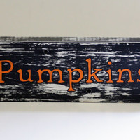 Pumpkins Wooden Sign, Fall Decor