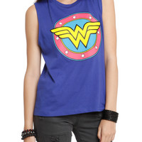 DC Comics Wonder Woman Logo Girls Muscle Top