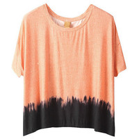 Gradient Colour Loose Orange T-shirt [NCTX0035] - $59.99 :