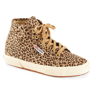 Superga Womens Superga Leopard High-Top Sneakers - Brown,