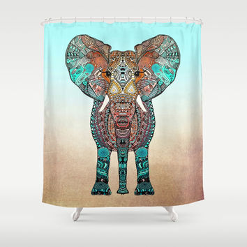 ElePHANT Shower Curtain by Monika Strigel